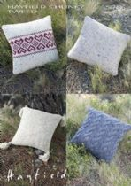 Hayfield Chunky Tweed Knitting Pattern - 7496 Cushion Covers